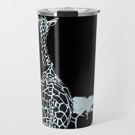 Art print: The giraffes in Blue Travel Mug