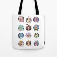 zodiac Tote Bags featuring Zodiac by Clementine Petrova