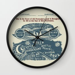 Voices from the Borderlands Wall Clock