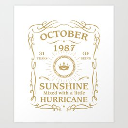 October 1987 Sunshine mixed Hurricane Art Print