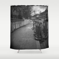 street Shower Curtains featuring Street by Predicaments