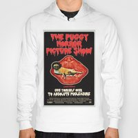 rocky horror Hoodies featuring Puggy Horror by Dark Lord Pug