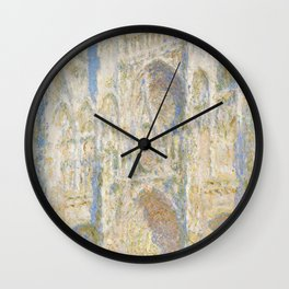 Rouen Cathedral, Sunflight by Claude Monet Wall Clock