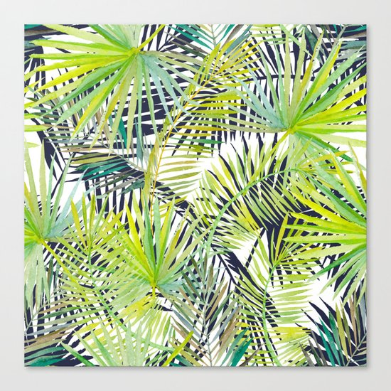 Tropical Frond Pattern Canvas Print