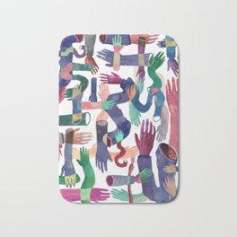 Color Hands Bath Mat