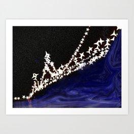 Starring Bay Bridge Art Print