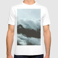 Mountains and gods White MEDIUM Mens Fitted Tee