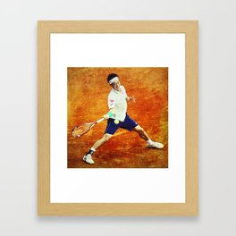 Kei Nishikori Tennis Framed Art Print