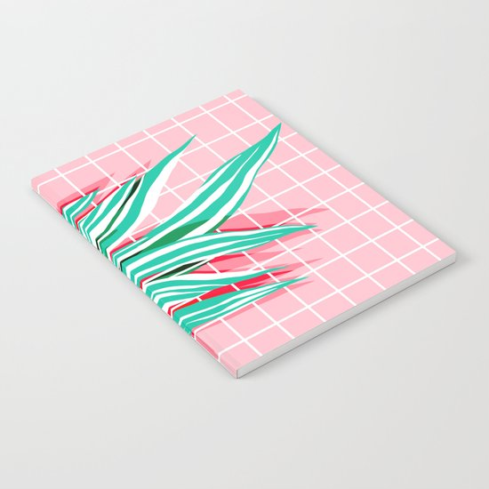 Glam - pop art memphis neon house plants throwback retro 80s style cool brooklyn style minimalism Notebook