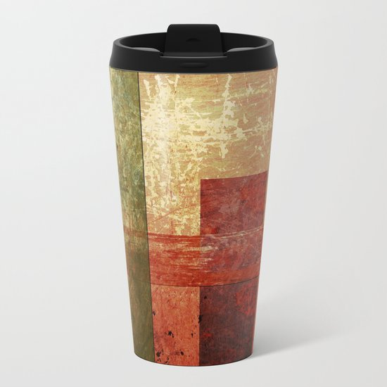 Converge, Abstract Grunge Art Metal Travel Mug