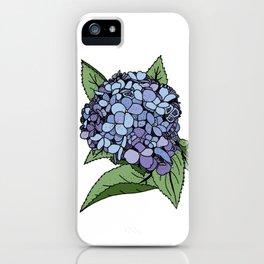 Hydrangea Blue iPhone Case