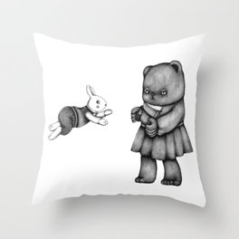 Bearly In Love Throw Pillow