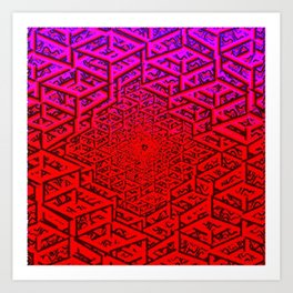 Hive Minded Raw Art Print