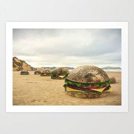 Moeraki Burgers Art Print