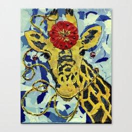 Ezmerelda The Giraffe Canvas Print