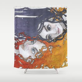 Antara and Meridian: Fire and Darkness Shower Curtain