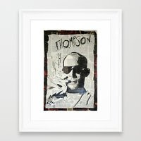 hunter s thompson Framed Art Prints featuring Dr. Hunter S. Thompson by Mike Oncley