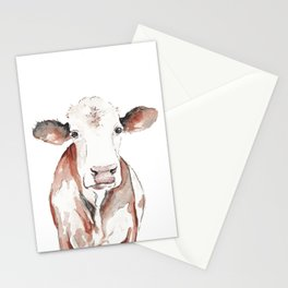 Cow Watercolor Stationery Cards