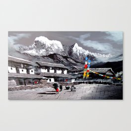 Panoramic View Of Everest Base Camp Canvas Print