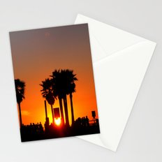 Venice Beach Sunset Stationery Cards