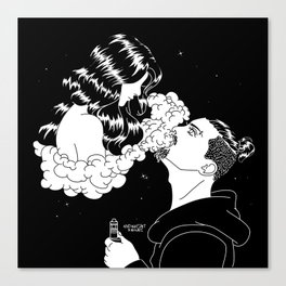 Vaping You Out So I Can See You Canvas Print