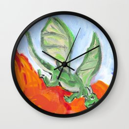 Fire Breathing Dragon Wall Clock