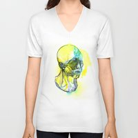 dna V-neck T-shirts featuring DNA by Chen Li