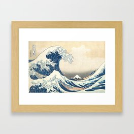 The Great Wave off Kanagawa (High Resolution) Framed Art Print