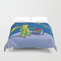the little prince Duvet Covers featuring Little prince by Dennis Morgan