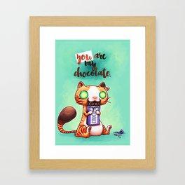 Chocolate addict Framed Art Print