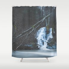 Emerging waterfall after the flood Shower Curtain