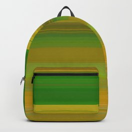 green and yellow horizontal lines Backpack
