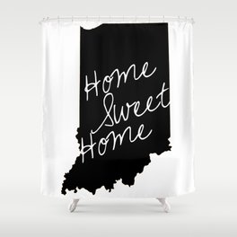 Indiana Home Sweet Home Shower Curtain