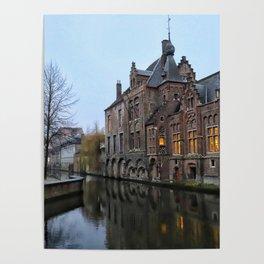 Belgium, City Canal 9 Poster