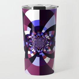 Purple Magenta Periwinkle Kaleidoscope Mangala Travel Mug