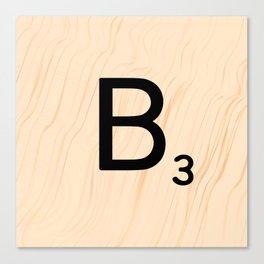 Scrabble Letter B - Large Scrabble Tiles Canvas Print