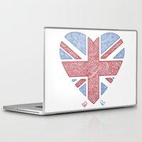 union jack Laptop & iPad Skins featuring Union Jack  by Joanne Hawker