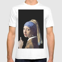 Girl With a Pearl Earring being Badass - Johannes Vermeer T-shirt