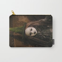Creepy Gothic Halloween Mourning Witch Doll Carry-All Pouch