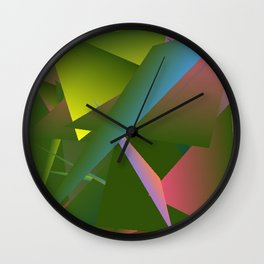 Dancing in the Garden Abstract 3 Wall Clock