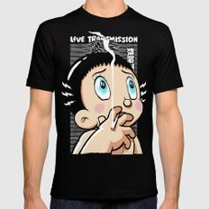 Live Transmission Black Mens Fitted Tee MEDIUM