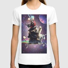 Cat Riding Chicken Turtle Panda Llama Unicorn T-shirt