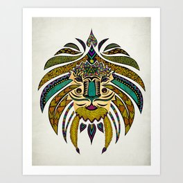 Emperor Tribal Lion Art Print