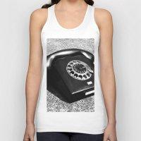 telephone Tank Tops featuring telephone by Falko Follert Art-FF77