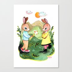 Happy Birthday Little Rabbit Canvas Print