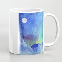 northern lights Mugs featuring Northern Lights by Ricardo Moody