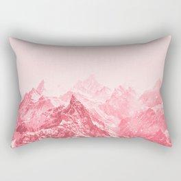 Mountains Red Rectangular Pillow