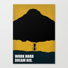 Lab No. 4 - Work Hard Dream Big Corporate Start-up Quotes Poster Canvas Print