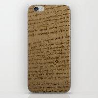 da vinci iPhone & iPod Skins featuring Da Vinci I by Megan