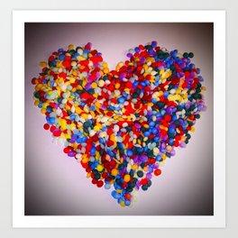 Heart of Rainbow Sprinkles Art Print